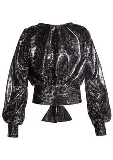 MSGM Leopard-pattern sequin blouse