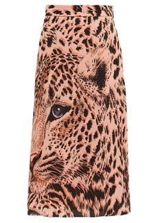 MSGM Leopard-print midi skirt