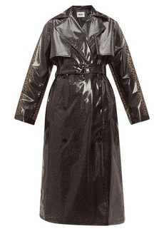 MSGM Leopard PVC trench coat