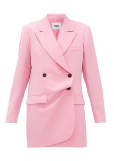 MSGM Misalinged double-breasted wool mini dress