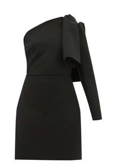 MSGM One-shoulder crepe mini dress