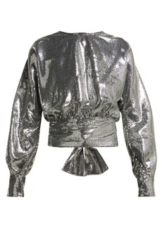 MSGM Open-back sequin blouse