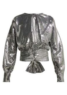 MSGM Open-back sequin blouse