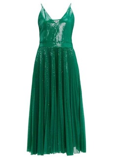 MSGM Pleated sequinned dress