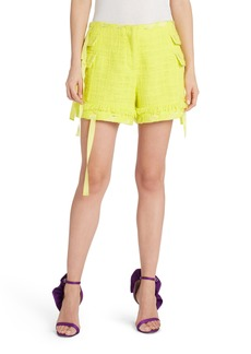 MSGM Ribbon Detail Tweed Shorts