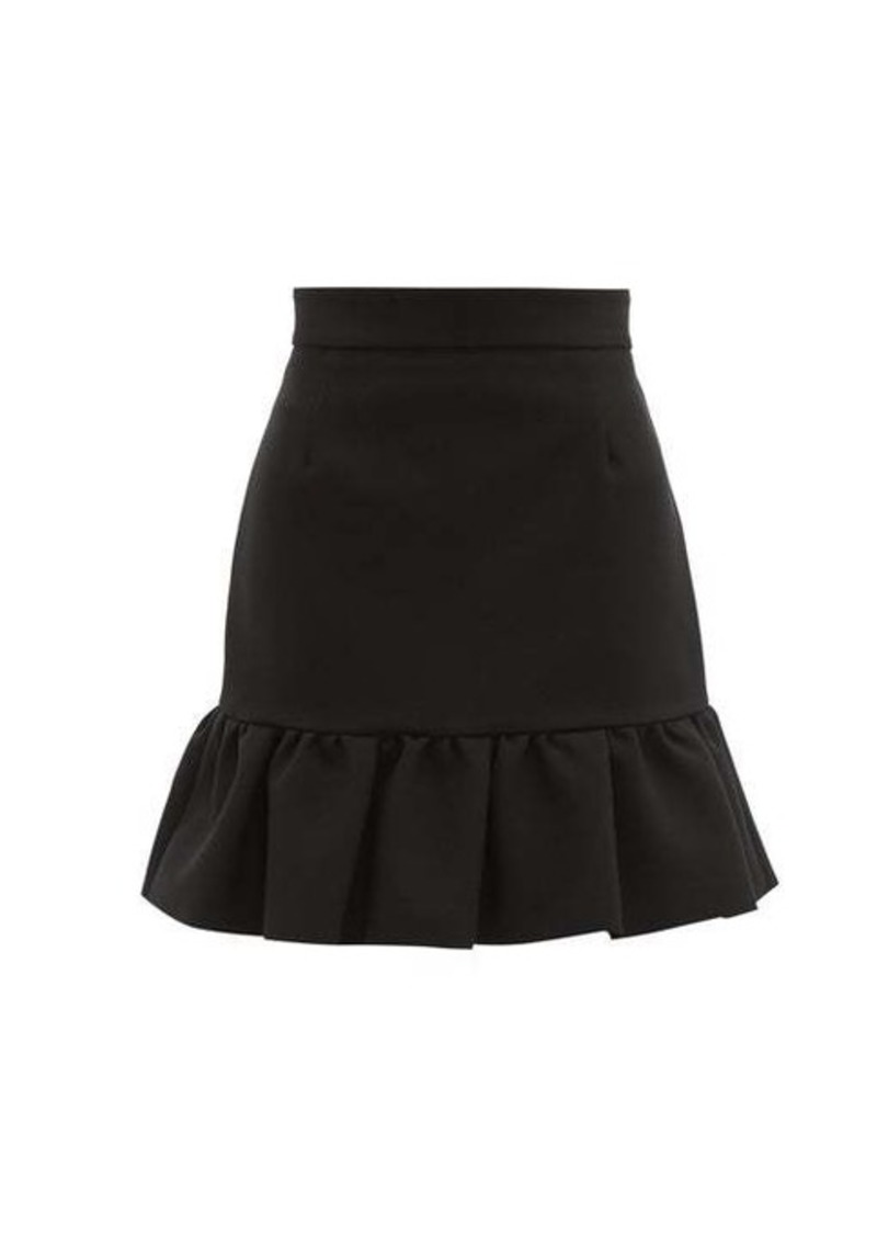 MSGM Ruffled-hem crepe mini skirt