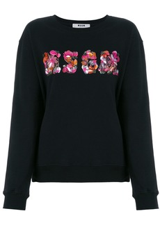 MSGM sequin logo sweatshirt - Black