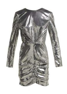 MSGM Sequin ruched mini dress