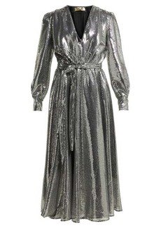 MSGM Sequinned midi dress