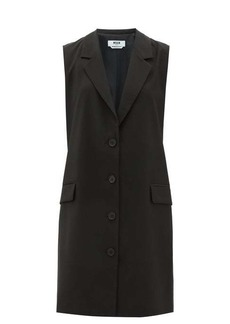 MSGM Sleeveless single-breasted tailored wool dress
