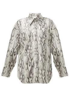 MSGM Snake-print jersey shirt