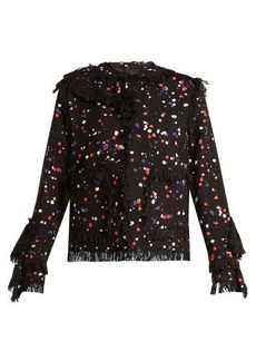 MSGM Splatter-print cotton-blend jacket