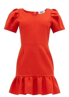 MSGM Sweetheart-neckline crepe mini dress