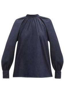 MSGM Tie-back denim blouse