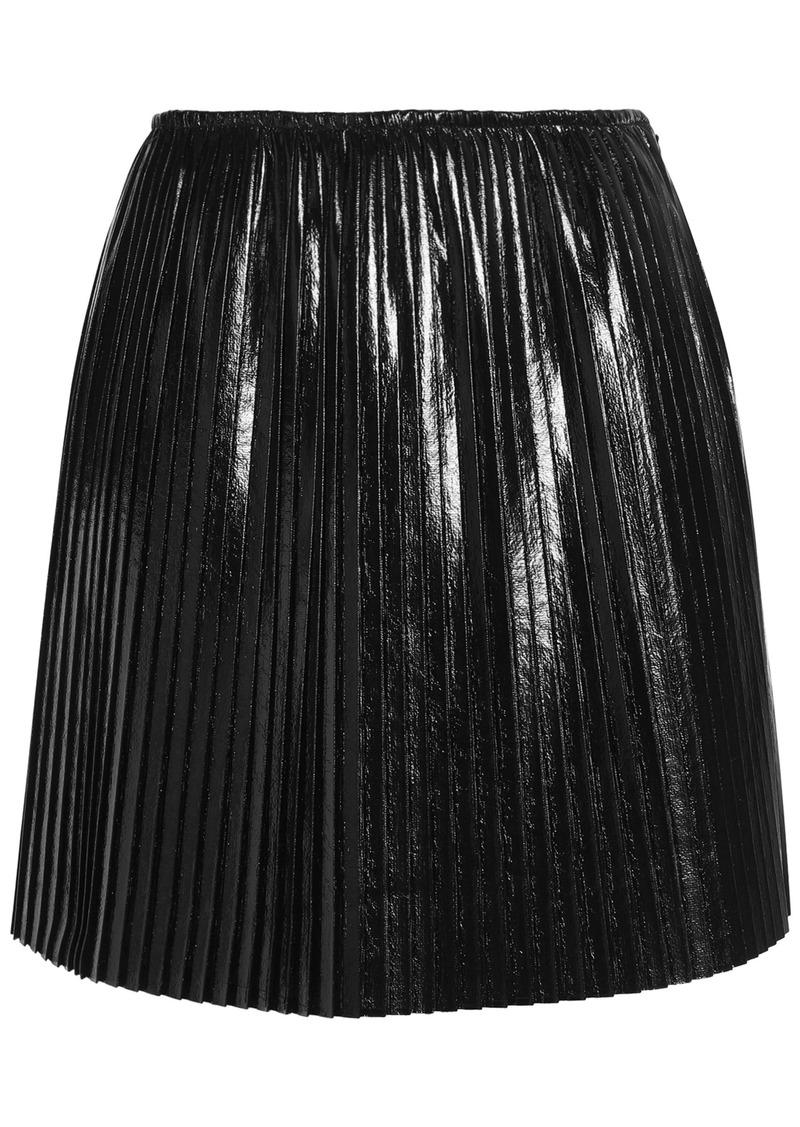 Msgm Woman Pleated Mini Skirt Black