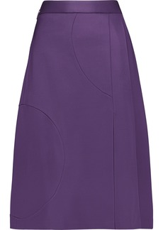 Msgm Woman Pleated Ponte Skirt Purple