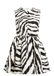 MSGM Zebra-print cloqué mini dress