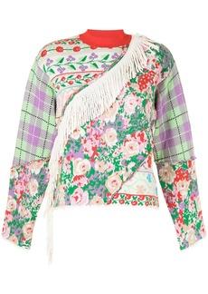MSGM multi-panel design sweatshirt
