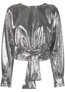 MSGM open back sequined top