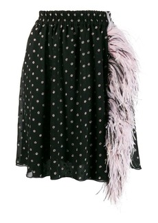 MSGM ostrich feather mini skirt