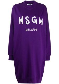 MSGM oversized logo-print sweatshirt-dress