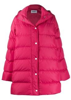 MSGM oversized padded coat