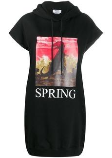 "MSGM oversized ""spring"" short-sleeved hoodie"