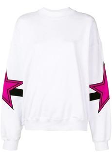 MSGM oversized star patch sweatshirt
