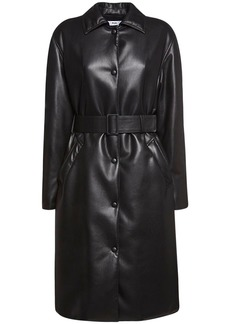 MSGM Padded Faux Leather Coat