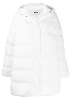 MSGM padded hooded coat