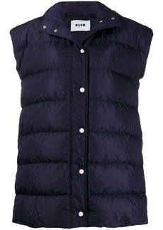 MSGM padded hooded vest