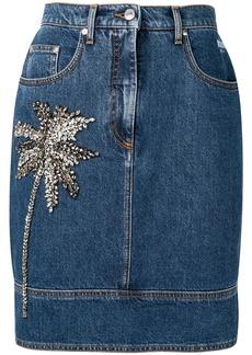 MSGM Palm embellished skirt