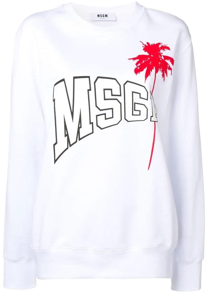 MSGM palm tree logo sweatshirt
