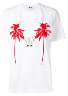 MSGM palms print T-shirt