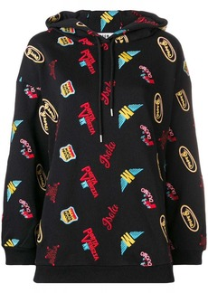 MSGM patchwork loose hoodie