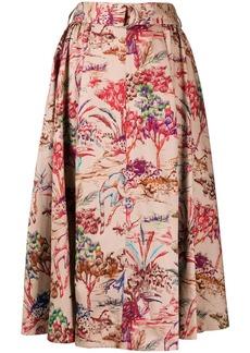 MSGM patterned full skirt