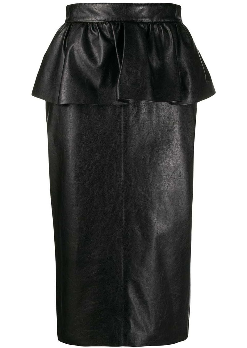 MSGM peplum pencil skirt