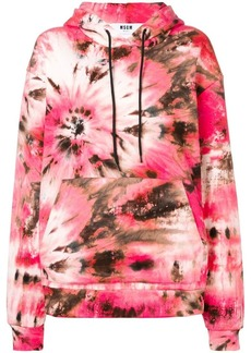 MSGM pink abstract hoodie