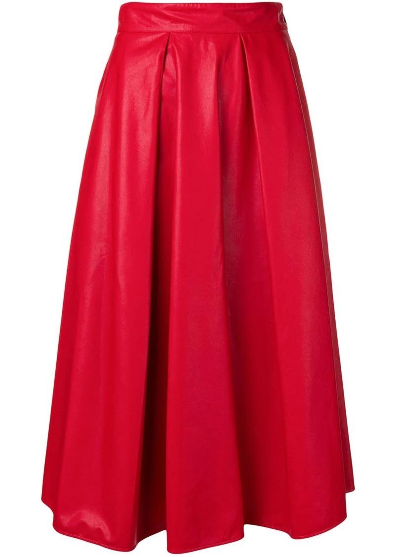MSGM pleated midi skirt