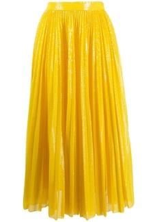 MSGM pleated sequin midi skirt