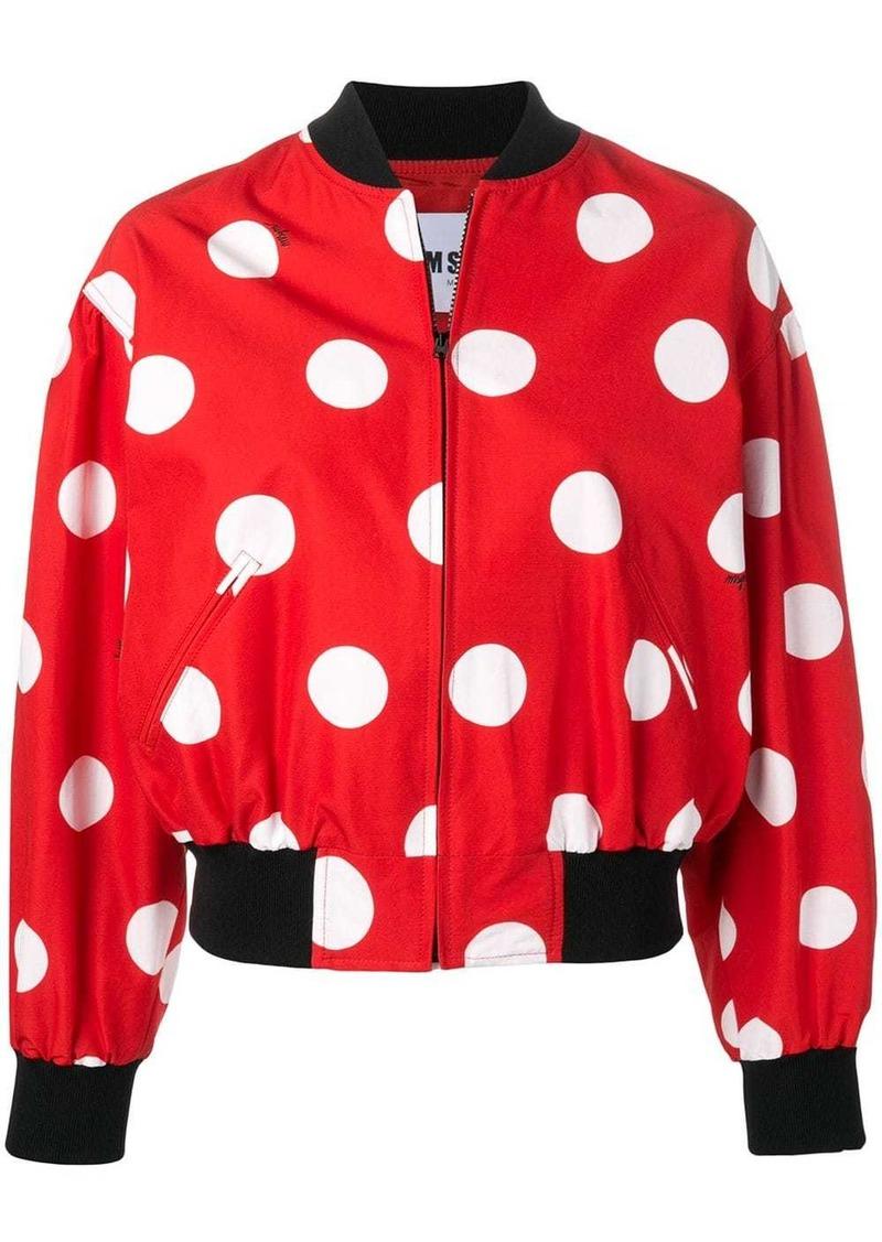 MSGM polka dot bomber jacket