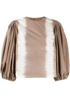 MSGM pouf sleeve tie-dye blouse