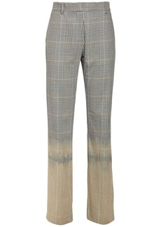 MSGM Prince Of Wales Cotton Straight Pants