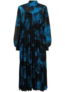 MSGM printed pleated midi dress