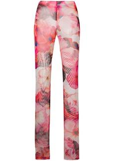 MSGM printed slim trousers