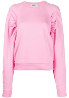 MSGM puff sleeves sweatshirt