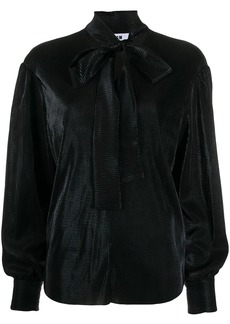 MSGM pussy-bow long sleeve blouse