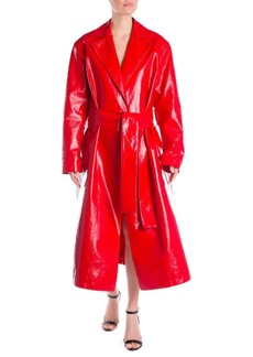 MSGM PVC Wrap Front Trench Coat
