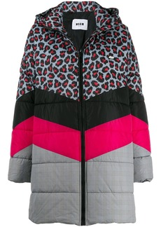 MSGM quilted multi-pattern coat
