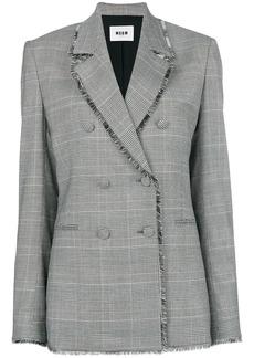 MSGM raw edge notch collar blazer
